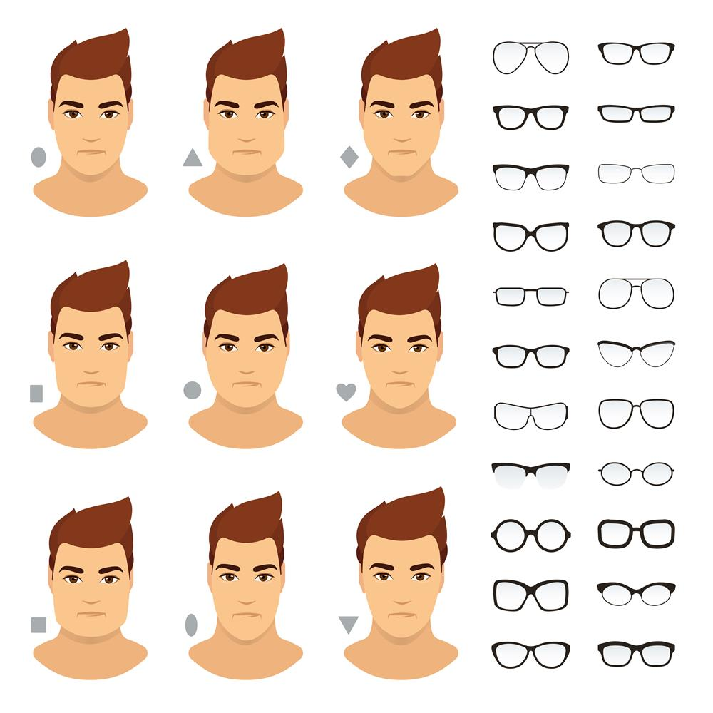 face shape best glasses men