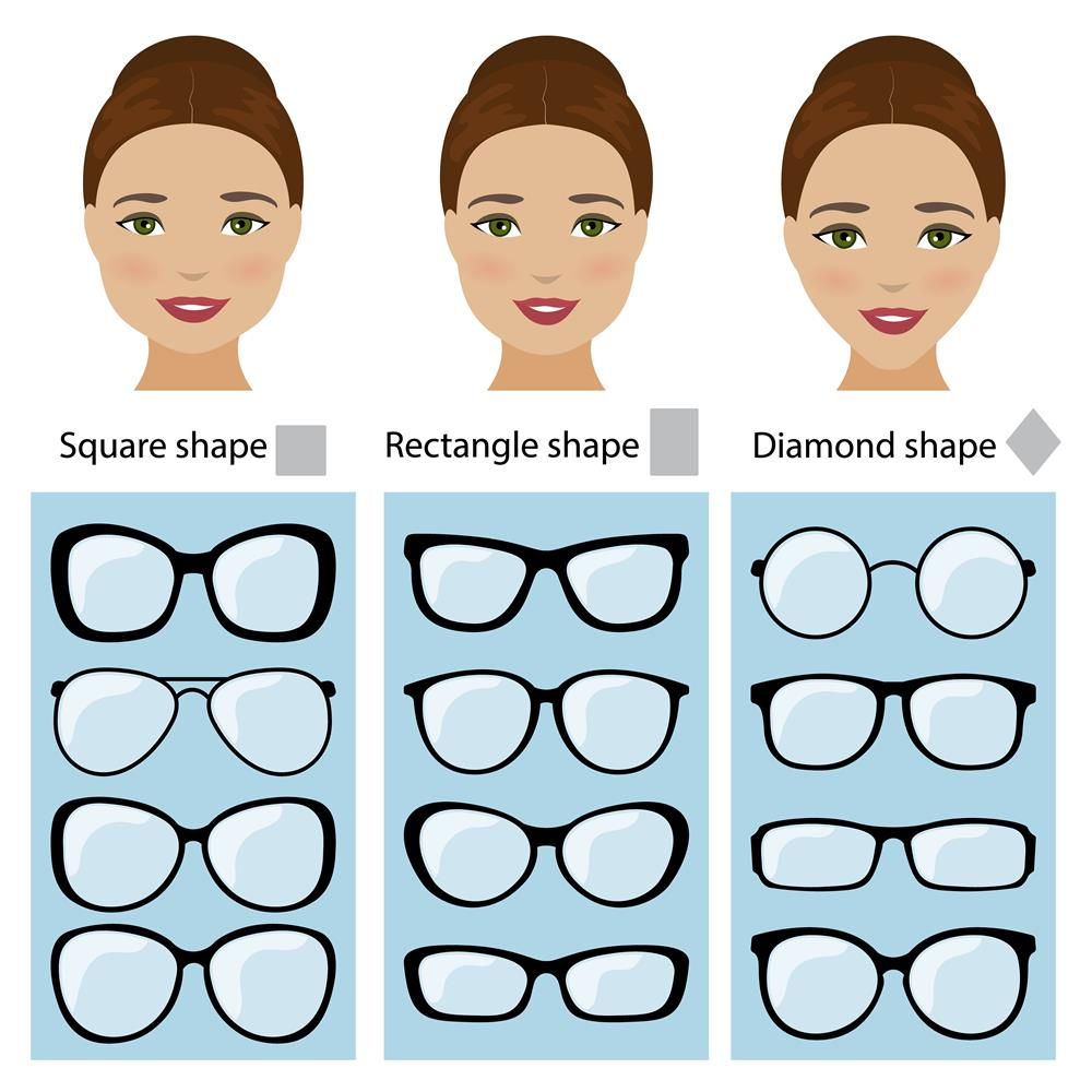 glasses frames face shape women