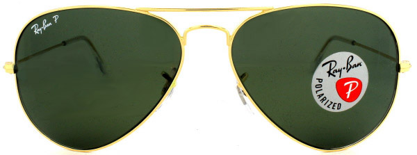 polarized ray ban  picture of ray ban: gold: polarized: 3025 001/58