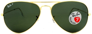 Picture of Ray Ban: Gold: Polarized: 3025-001/58