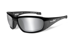 Picture of WileyX: BOSS:Gloss Black Frame:Smoke Grey Lens