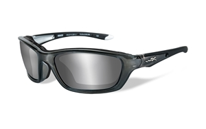 Picture of WileyX:BRICK 855:Crystal Metallic Frame: Silver Flash Lens