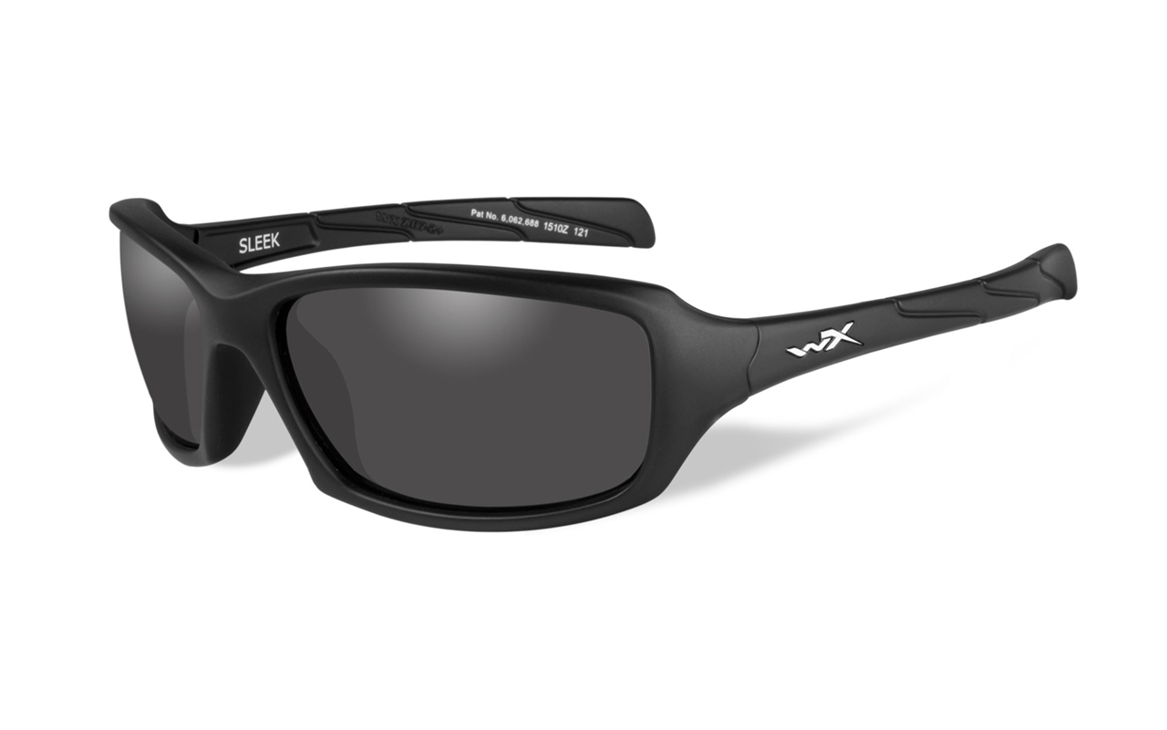 93856e7c211 Picture of WileyX SLEEK Matte Black Frame Smoke Grey Lens