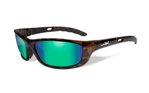 Picture of WileyX: P-17:Gloss Demi Frame:Polarized Emerald Green Lens