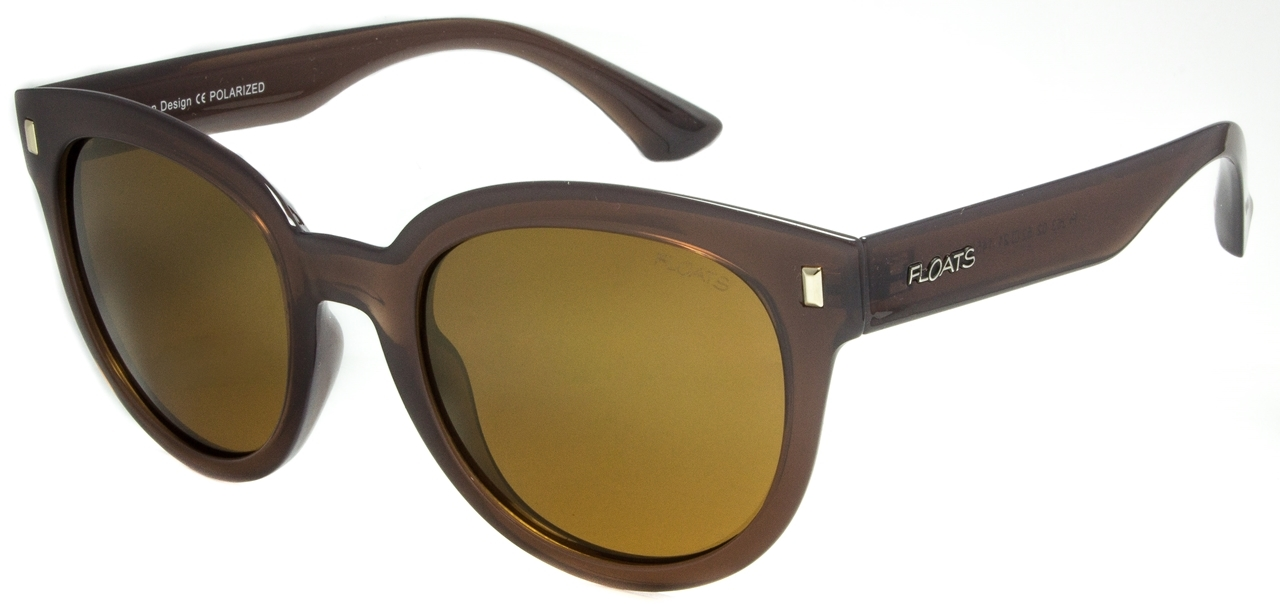 Picture of FLOATS:F4253-02:Brown Frame:Polarized Mirror Gold Lens