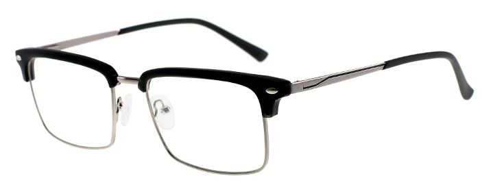 Picture of Darby: DC3034 C4: Black Frame with Silver Smoke Polarized Clip On